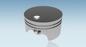 Pistons for motor saws